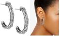American West Patterned Hoop Earring in Sterling Silver