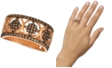 Le Vian Chocolatier® Chocolate Diamond® Geometric Statement Ring (1/2 ct. t.w.) in 14k Rose Gold