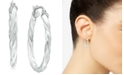 "Giani Bernini Small Twisted Hoop Earrings in Sterling Silver, 1"", Created for Macy's"