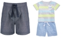 First Impressions Baby Boys Cotton Chambray Shorts, Created for Macy's