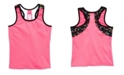 Girl Power Sport Big Girls Active Racer Back Tank with Husky Pup