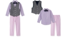 Nautica Little Boys 4-Pc. Twill Oxford Vest Set