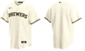 Nike Men's Milwaukee Brewers Official Blank Replica Jersey