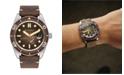 Spinnaker Men's Croft Automatic Brown Genuine Leather Strap Watch 43mm