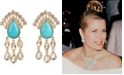 Grace Kelly Collection 18k Gold Plated Drop Pierced Earring