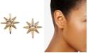 AVA NADRI Gold-Tone Crystal Star Stud Earrings