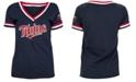 5th & Ocean Minnesota Twins Women's Contrast Binding T-Shirt