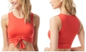 Vince Camuto Cropped Tie-Front Bikini Top