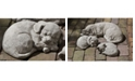 Campania International Curled Dog Small Garden Statue