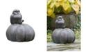 Campania International Owl on Pumpkin Garden Statue