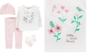 Carter's Baby Girls 4-Pc. Flower Bouquet Cotton Take-Me-Home Set