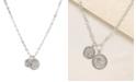 ETTIKA The Adventurer Double Rhodium Coin Women's Necklace