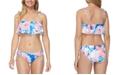 Raisins Juniors' Torquay Flounce Bikini Top & Torquay Sweet Tie-Dye Side-Tie Bikini Bottoms