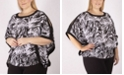 NY Collection Women's Plus Size Poncho Top