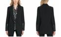 DKNY Faux-Leather-Trim Blazer