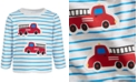 First Impressions Baby Boys Long-Sleeve Firetruck T-Shirt, Created for Macy's