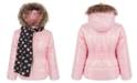 S Rothschild & CO Toddler Girls Puffer Coat with scarf