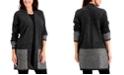 Karen Scott Pattern-Trim Cardigan, Created for Macy's