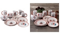 American Atelier Holiday Gift 16 Piece Dinnerware Set
