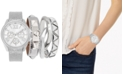 Jessica Carlyle Women's Gunmetal-Gray Polyurethane Strap Watch 38mm, Gift Set