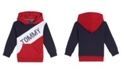 Tommy Hilfiger Little Boys Tricolor Pieced Pullover Hoodie