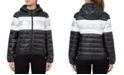 Numero Quilted Hooded Metallic-Stripe Packable Jacket
