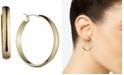 "Anne Klein Gold-Tone 1 1/4""Wide Hoop Earrings"