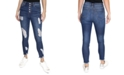 Almost Famous Crave Fame Juniors' Ripped High-Rise Skinny Jeans