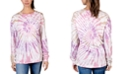 Rebellious One Juniors' Cotton Swirl Tie-Dyed Top