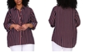 Michael Kors Plus Size Striped Tunic Shirt