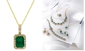 EFFY Collection Brasilica by EFFY® Emerald (1-3/8 ct. t.w.) and Diamond (1/4 ct. t.w.) Pendant Necklace in 14k Gold, Created for Macy's