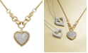 EFFY Collection D'Oro by EFFY® Diamond Pavé Diamond Heart Pendant (3/4 ct. t.w.) in 14k Gold and 14k White Gold