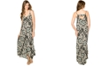 Wendy Bellissimo Maternity Printed Cutout-Back Maxi Dress
