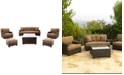 Furniture Antigua Outdoor 6-Pc. Seating Set (1 Sofa, 2 Swivel Chairs, 2 Ottomans and 1 Coffee Table)