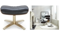 Furniture Annaldo Leather Ottoman