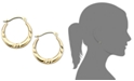 Macy's 10k Gold Small Polished Pinched Hoop Earrings