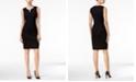 Calvin Klein Split-Neck Sheath Dress