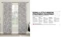 "Sun Zero CLOSEOUT! Rosalie 52"" x 63"" Floral Blackout Lined Tab Top Curtain Panel"