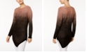 NY Collection Metallic Ombré Tunic Sweater