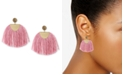 Lucky Brand Gold-Tone Yellow Pavé & Pink Fringe Drop Earrings
