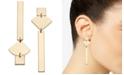 INC International Concepts I.N.C. Gold-Tone Geometric Mismatch Linear Drop Earrings, Created for Macy's