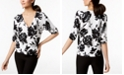 INC International Concepts INC Ruched Elbow-Sleeve Cardigan, Created for Macy's