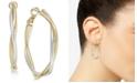 Charter Club Two-Tone Twisted Medium Hoop Earrings , Created for Macy's