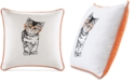 "HipStyle Artemis 20"" Square Cat Embroidered Decorative Pillow"