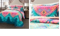 Lush Decor Boho Chic Reversible 3-Piece King Quilt Set