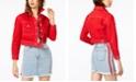 Kendall + Kylie Cropped Cotton Denim Jacket