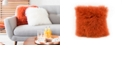Moe's Home Collection Lamb Fur Pillow Orange