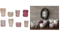 3R Studio Mercury Pink Glass Tealight Holders, Set of 8