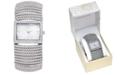 Charter Club Women's Stretch Silver-Tone Bracelet Watch 42mm, Created for Macy's
