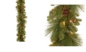 """National Tree Company 9' x 12"""" Feel Real(R) Eastwood Spruce Garland with 45 Mixed Cones & 70 Clear Lights"""